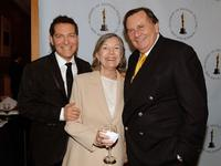 Michael Feinstein, Guest and Barry Humphries at the AMPAS Centennial Tribute To Johnny Mercer.