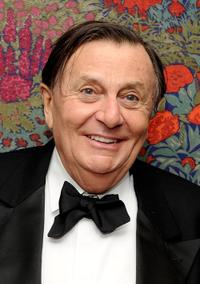 Barry Humphries at the opening night party for