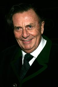 Barry Humphries at the premiere of