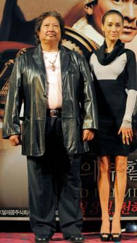 Sammo Hung and Maggie Q at the event to promote