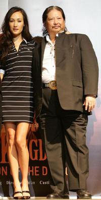 Maggie Quigley and Sammo Hung at the news conference of