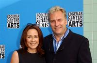 Patrica Heaton and David Hunt at the fundraising reception and ceremonial ribbon cutting.