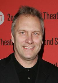 David Hunt at the after party of the Second Stage Theatre opening night of