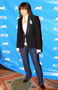 Chrissie Hynde at the People for the Ethical Treatment of Animals (PETA) 21st Anniversary Party.