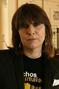Chrissie Hynde at the Live Aid Artists 20 Years On Studio.