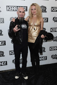 Scott Ian and Guest at the Relentless Energy Drink Kerrang! Awards 2010 in England.