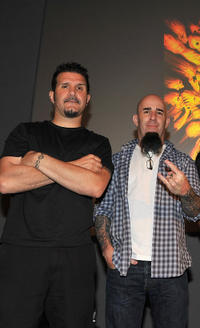 Charlie Benante and Scott Ian at the Apple Store Soho in New York.