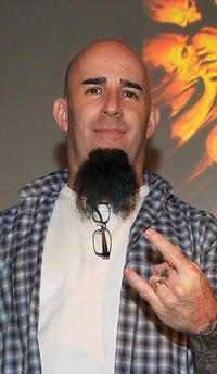 Scott Ian at the Apple Store Soho in New York.