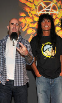 Scott Ian and Joey Belladonna at the Apple Store Soho in New York.