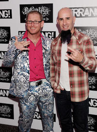Corey Taylor and Scott Ian at the Relentless Energy Drink Kerrang! Awards in England.