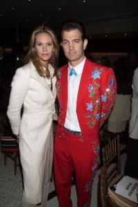 Elle MacPherson and Chris Isaak at the Showtime Annual Programming Preview Luncheon with The Stars.