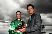 Mark Zara and Chris Isaak at the 2008 Emirate Stakes Day.