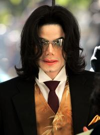 Michael Jackson at the Santa Barbara County Courthouse.