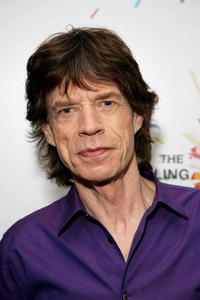 Mick Jagger at the webcast announcing details of the band's