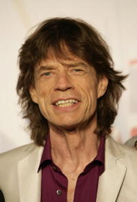 Mick Jagger at the press conference at Rolling Stones in Milan.