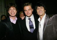 Mick Jagger, Leonardo DiCaprio and Ronnie Wood at the premiere of