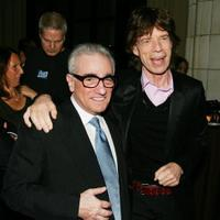 Director Martin Scorsese and Mick Jagger at the premiere of