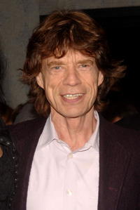 Mick Jagger at the screening of