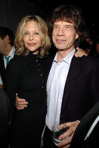 Meg Ryan and Mick Jagger at the after party of