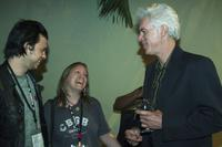 Jim Jarmusch, Patrick Barnes and Susan Dynner at the After Party for the 2006 Guggenheim Symposium at the Silverdocs at Silver Spring, Maryland.