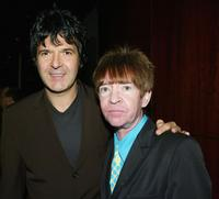Clem Burke and Rodney Bingenheimer at the after party of the Los Angeles premiere of