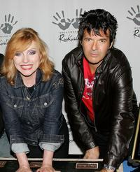 Deborah Harry and Clem Burke at the induction of Blondie into Hollywood's RockWalk.