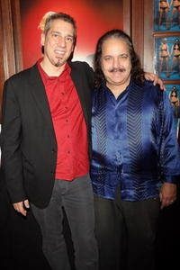 Michael Grecco and Ron Jeremy at the party to celebrate Grecco's new book