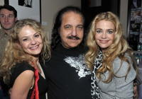 Director Julie Davis, Ron Jeremy and Denise Richards at the 2009 Slamdance Film Festival.