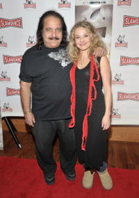 Ron Jeremy and director Julie Davis at the premiere of