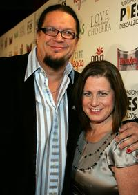Penn Jillette and his wife Emily at the