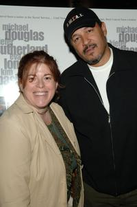 Marcy Drogin and Clark Johnson at the premiere of