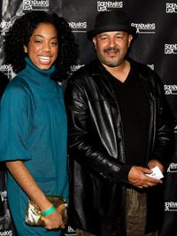 Keisa Willis and Clark Johnson at the premiere of