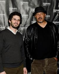 Director Joshua Marston and Clark Johnson at the premiere of