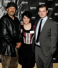Clark Johnson, Mara Minsky and director Rawson Marshall at the premiere of