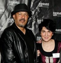 Clark Johnson and Mara Minsky at the premiere of