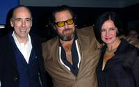 Mick Jones, director Julian Schnabel and Guest at the screening of