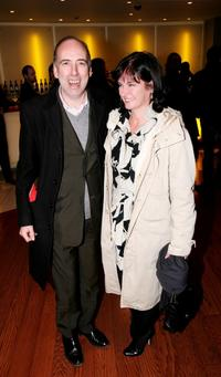 Mick Jones and Guest at the UK premiere of