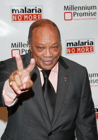 Quincy Jones at the Millennium Promise & Malaria No More Benefit Celebration.