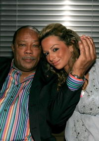 Quincy Jones and girlfriend Heba Elawadi at the Chris