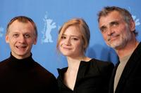Ivan Barnev, Julia Jentsch and Oldrich Kaiser at the photocall to promote