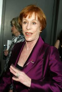 Carol Burnett at the opening night of Mel Brooks