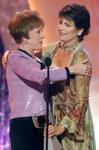 Carol Burnett and Lucie Arnaz at the 2005 TV Land Awards at Barker Hangar.