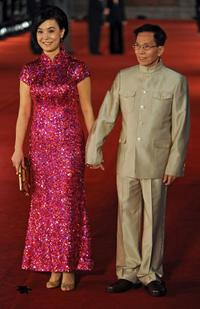 Mary Jean Reimer and Lau Kar-Leung at the 2010 Hong Kong Film Awards.