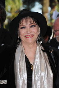 Anna Karina at the premiere of