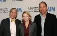 Lloyd Kaufman, Jean Prewitt and Jonathan Wolf at the 2008 AFM - AFM Opening Press Conference.