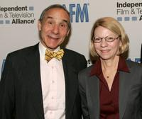 Lloyd Kaufman and Jean Prewitt at the 2008 AFM - AFM Opening Press Conference.