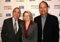 Lloyd Kaufman, Jean Prewitt and Jonathan Wolf at the press conference of opening morning.