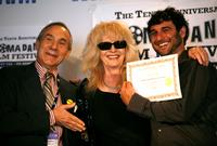 Lloyd Kaufman, Penelope Spheeris and Tawd Dorenfeld at the 2008 AFM Troma Press Conference.