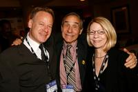 Steven Paul, Lloyd Kaufman and Jean Prewitt at the 2008 AFM Troma Press Conference.