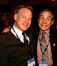Steven Paul and Lloyd Kaufman at the 2008 AFM Troma Press Conference.